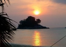 Sunset on Tioman Island in Western Malaysia