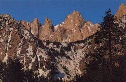 Mount Whitney in California - highest summit in the contiguous states of the USA