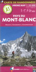 Mont Blanc Hiking Map