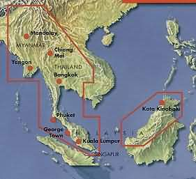 Road Travel Map: SE Asia
