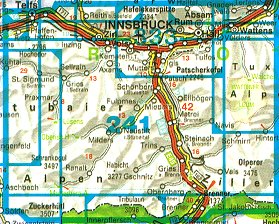 Innsbruck & Stubai Alps - Map