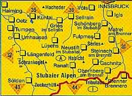 Stubaier Alpen - Kompass Map WK 83: