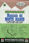 Mont Blanc Massif - Map