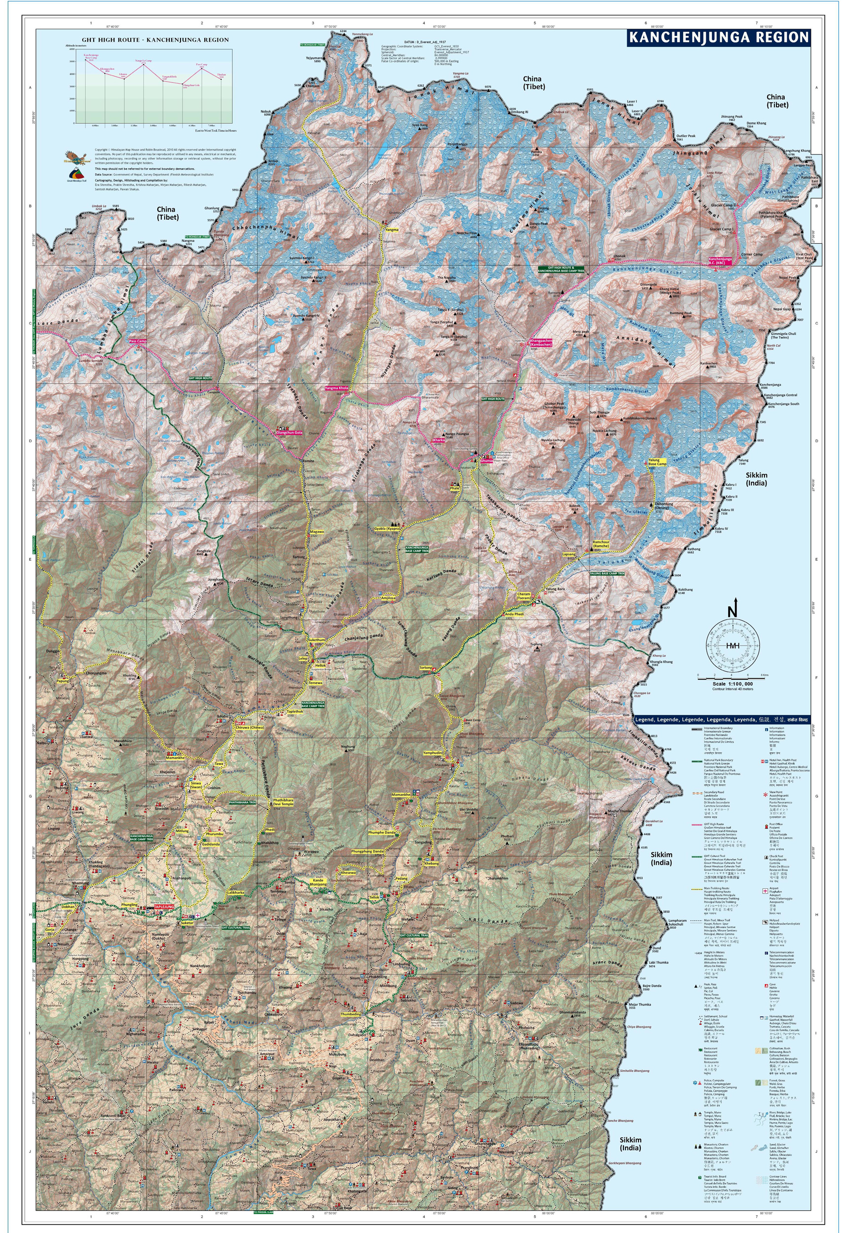 Maps of the Kangchenjunga Region
