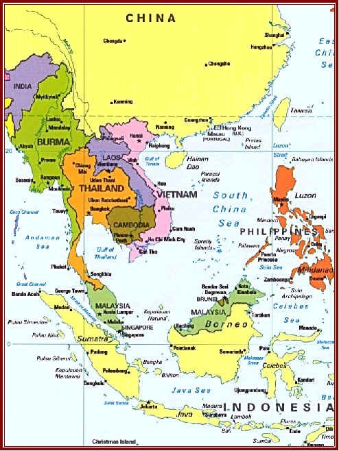 South East Asia Map - China :: Thailand :: Malaysia ...