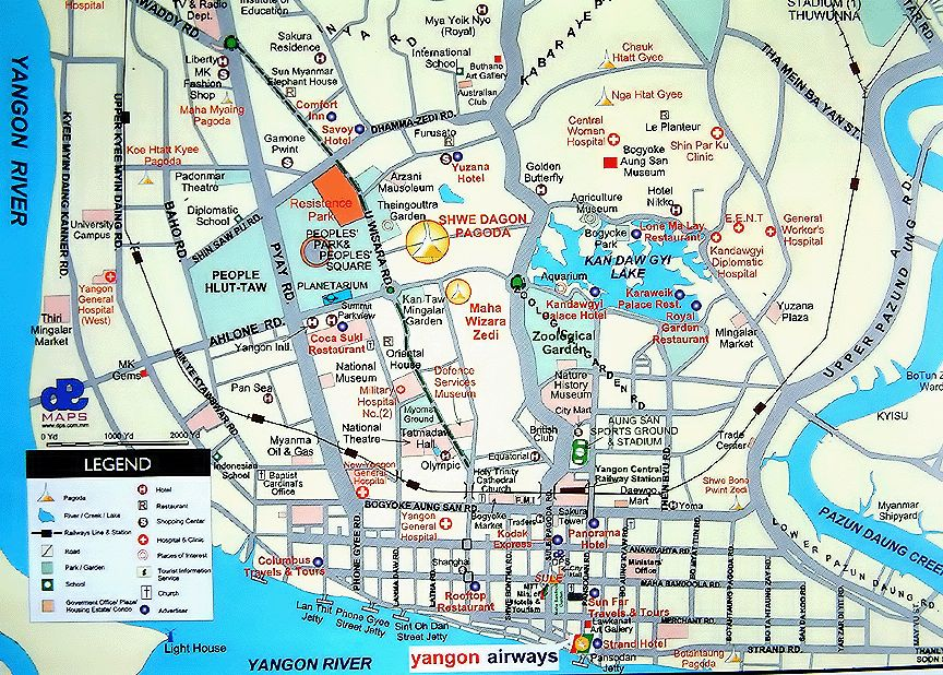 maps of myanmar   burma    bay of bengal  yangon   rangoon
